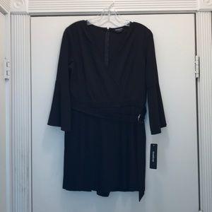 Black dressy romper jumpsuit by Bebe size 4 - NWT